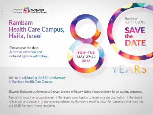 Save the date rambam